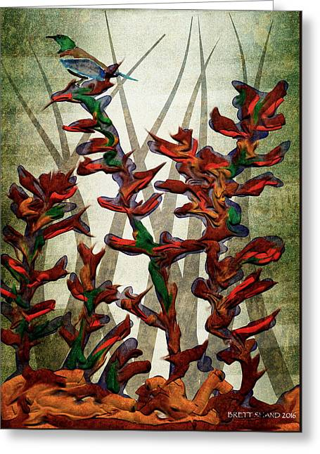 Tui In Flax Greeting Card