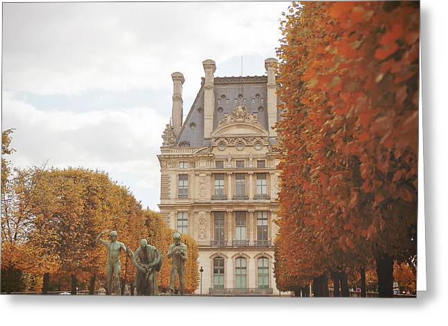 Tuileries Garden In Fall Greeting Card by Ivy Ho