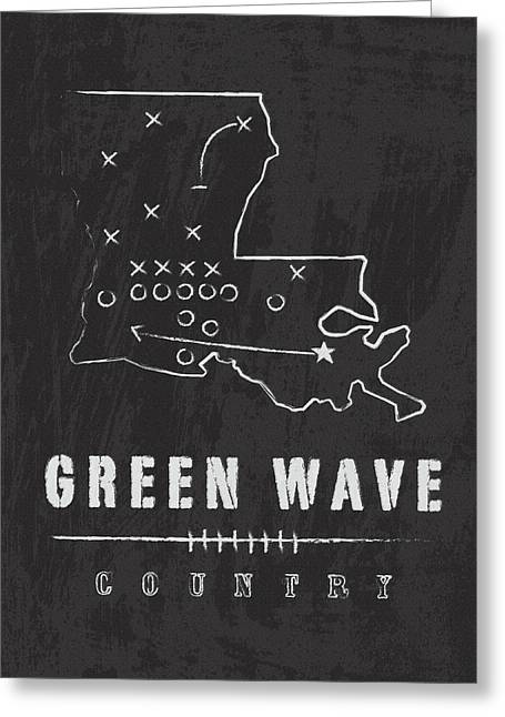 Tulane Green Wave Country Greeting Card by Damon Gray