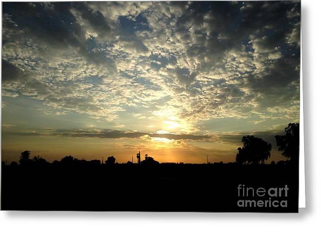 Tulare Sunset Greeting Card