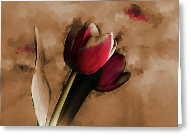 Tulip 043d Greeting Card