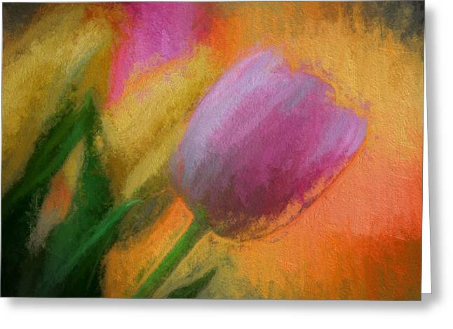 Tulip Abstraction Greeting Card