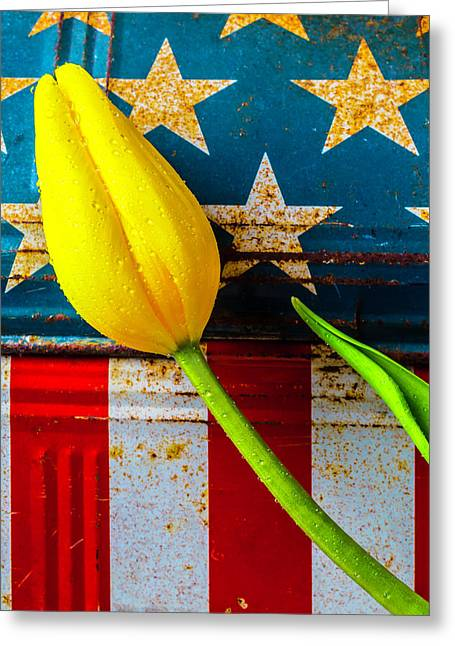 Tulip And Old Lunch Box Greeting Card