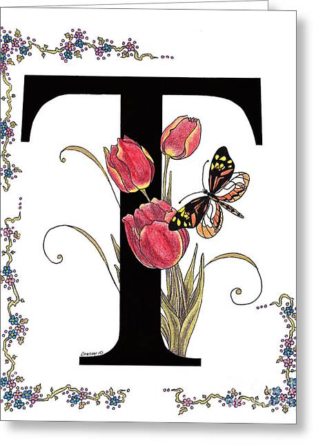 Tulip And Tiger Pierid Butterfly Greeting Card