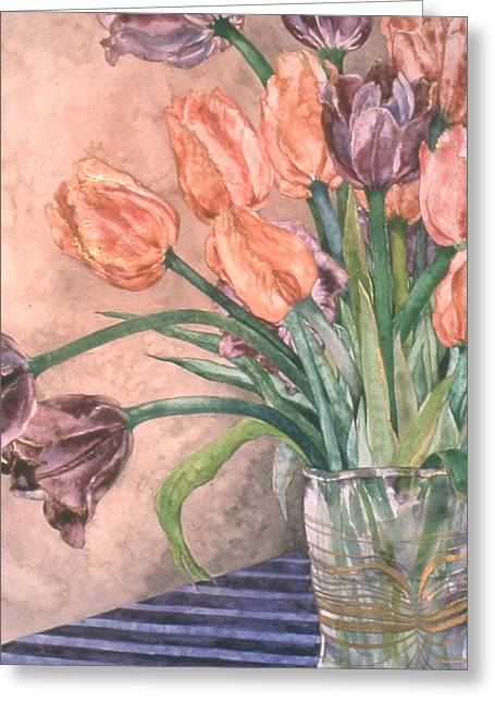 Tulip Bouquet - 9 Greeting Card by Caron Sloan Zuger