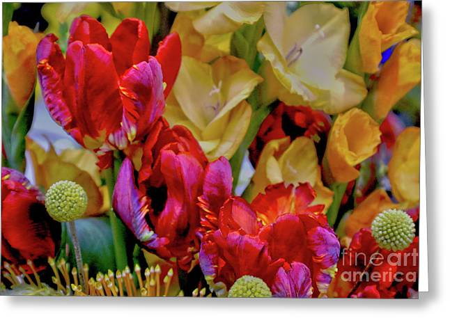 Tulip Bouquet Greeting Card by Sandy Moulder