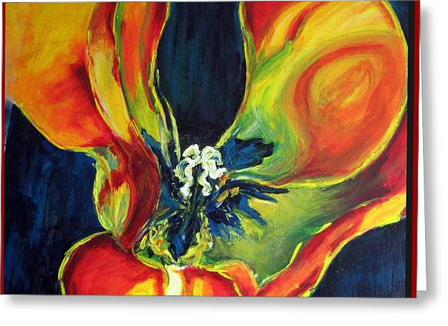 Greeting Card featuring the painting Tulip by Dragica  Micki Fortuna