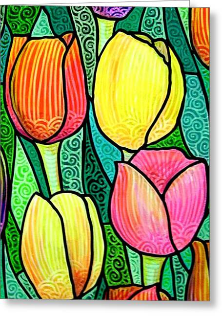 Tulip Expo Greeting Card by Jim Harris