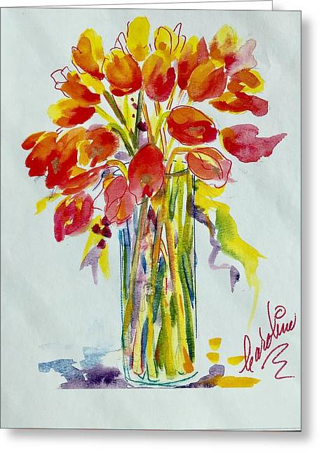 Tulip Fire Element Greeting Card