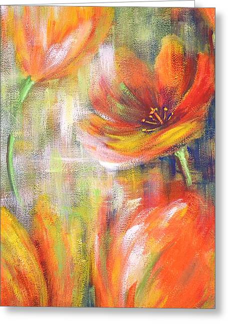 Tulip Freedom Greeting Card by Kathleen Pio