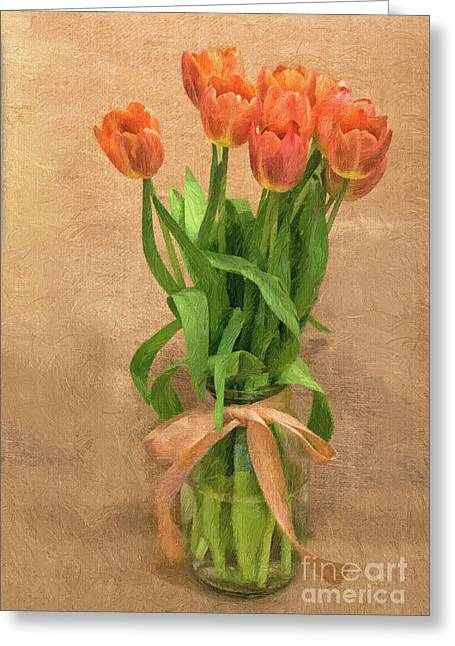 Tulip Impasto Greeting Card