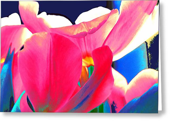 Tulip Kisses Abstract 6 Greeting Card
