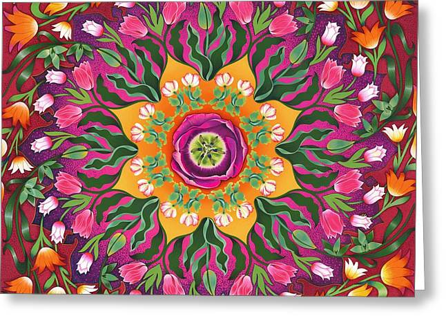 Tulip Mania 2 Greeting Card by Isobel  Brook Haslam