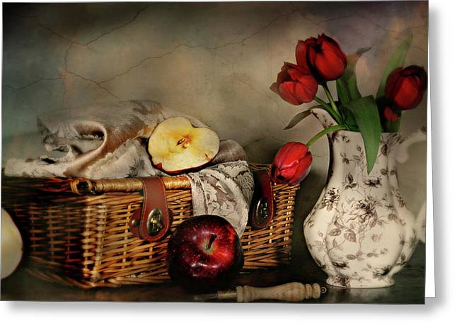 Basket And All Greeting Card by Diana Angstadt