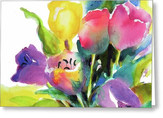 Tulip Pot Greeting Card