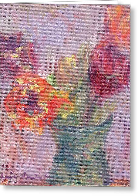 Tulip Soiree Greeting Card by Quin Sweetman