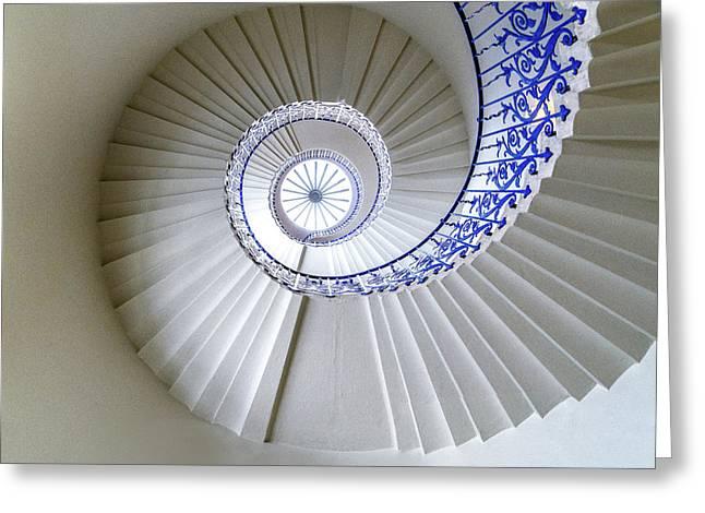 Tulip Staircase Greeting Card by Jae Mishra