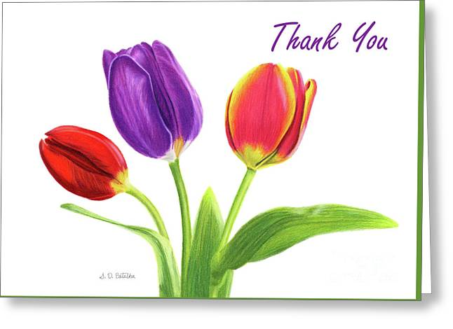 Tulip Trio- Thank You Cards Greeting Card