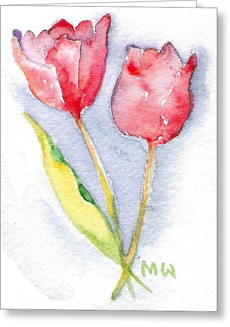 Tulip Vignette Greeting Card