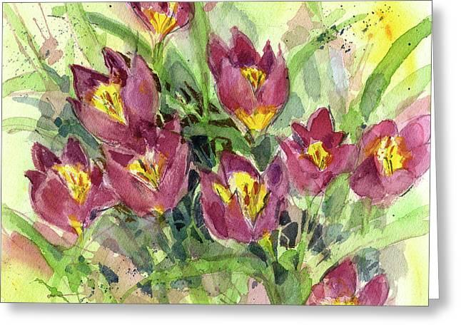 Tulipa Greeting Card