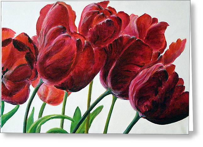 Tulipe Greeting Card by Deborah Dallinga