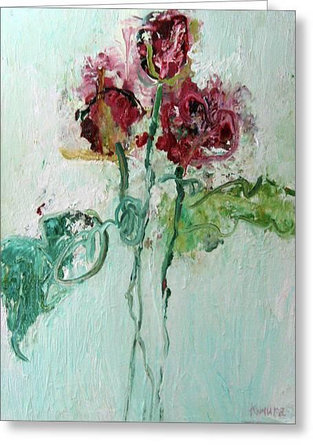Packing Paintings Greeting Cards - Tulips 1 Greeting Card by Yuki Komura