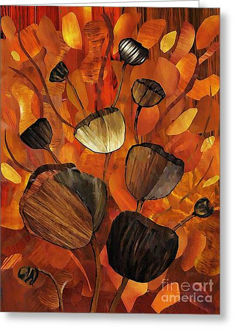 Tulips And Violins Greeting Card by Sarah Loft