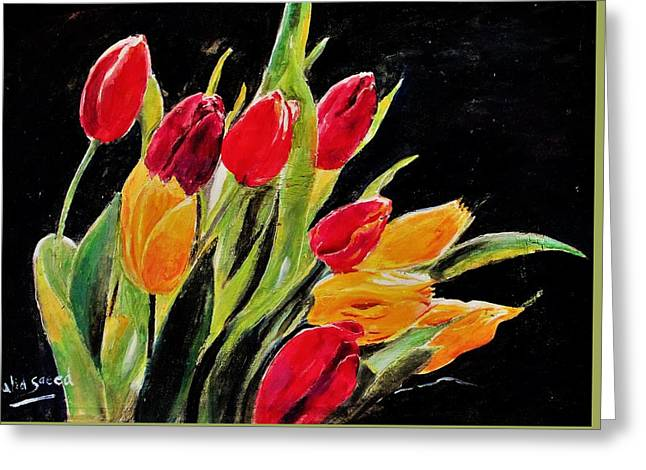 Tulips Colors Greeting Card