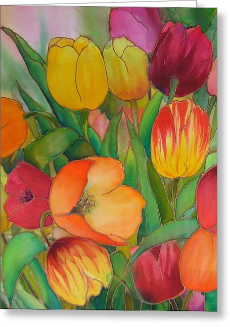 Tulips Greeting Card by Evelyn Antonysen