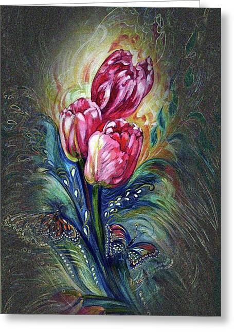 Tulips Fantasy Greeting Card