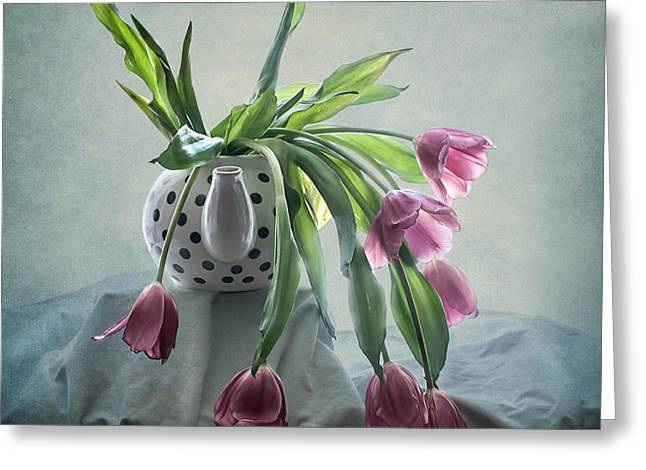 Tulips In A Teapot  Greeting Card