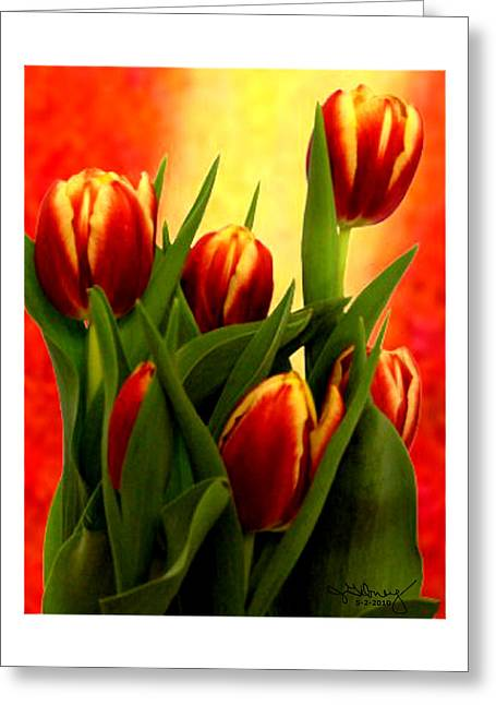 Tulips Jgibney Signature  5-2-2010 Greenville Sc The Museum Zazzle For Faa20c Greeting Card by jGibney The MUSEUM Zazzle Gifts