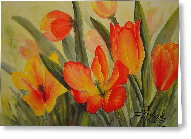 Tulips Greeting Card by Joanne Smoley