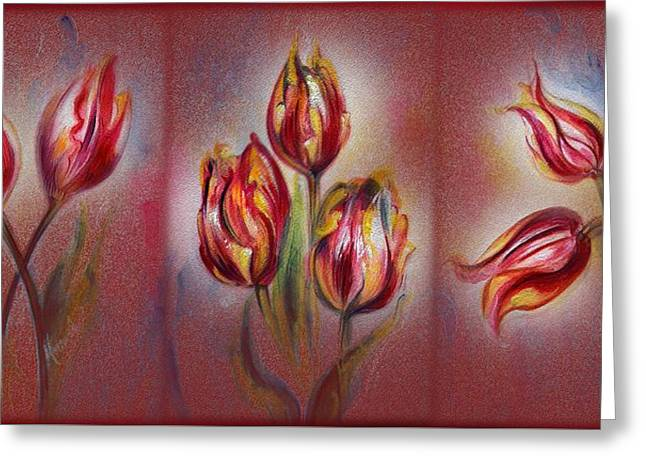 Tulips - Red Beauty  Greeting Card