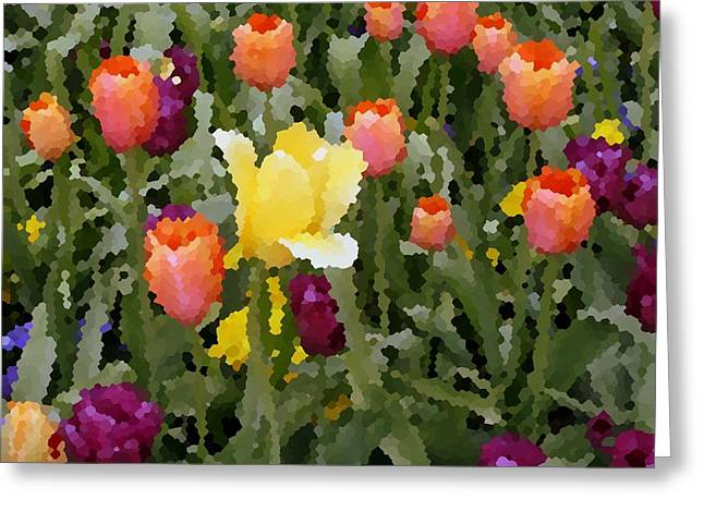 Tulips Greeting Card by Rodger Mansfield