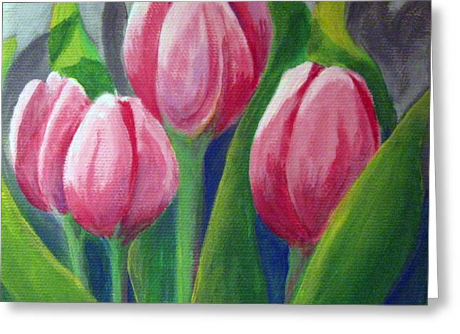 Tulips Greeting Card by Sharon Marcella Marston