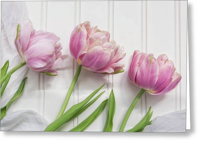 Greeting Card featuring the photograph Tulips Three by Kim Hojnacki