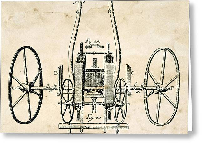 Tull: Seed Drill, 1701 Greeting Card
