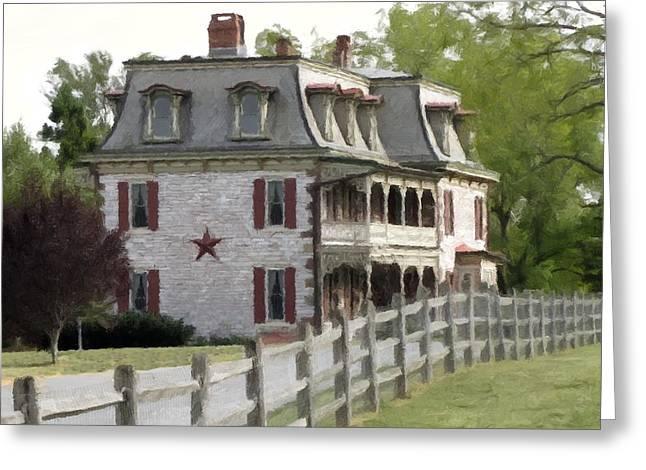 Greeting Card featuring the photograph Tulpehocken Manor Plantation Historic Site  by David Dehner