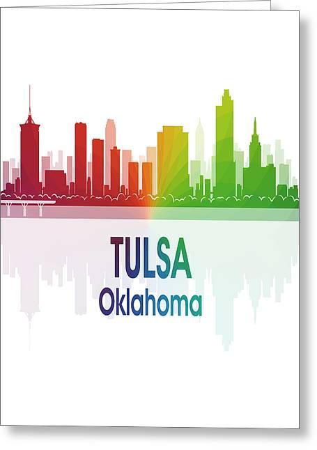 Tulsa Ok 1 Vertical Greeting Card