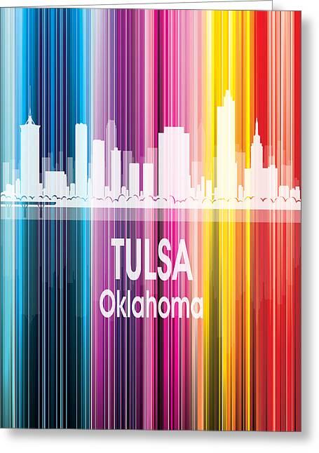 Tulsa Ok 2 Vertical Greeting Card