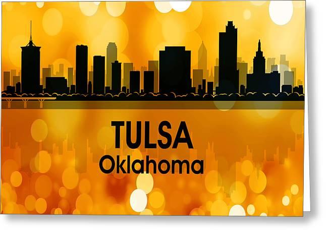 Tulsa Ok 3 Squared Greeting Card