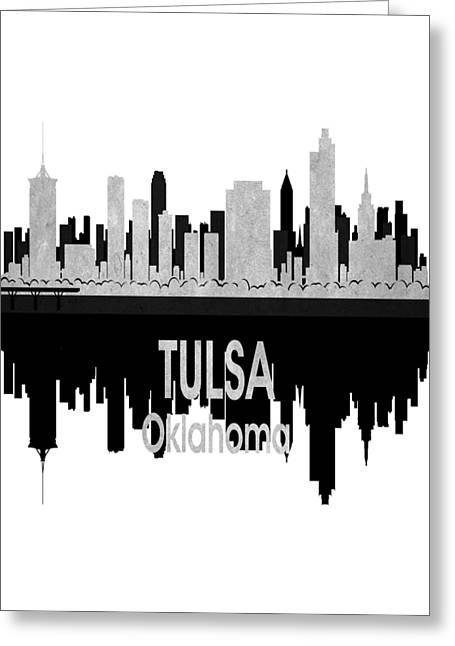 Tulsa Ok 4 Vertical Greeting Card