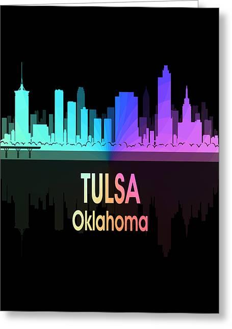 Tulsa Ok 5 Vertical Greeting Card