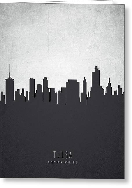 Tulsa Oklahoma Cityscape 19 Greeting Card by Aged Pixel