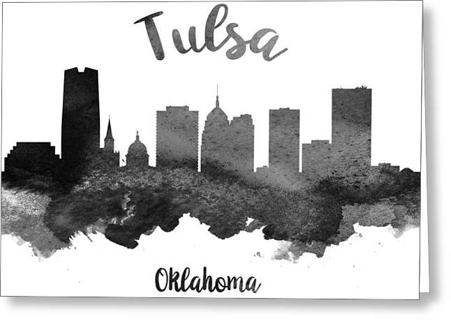 Tulsa Oklahoma Skyline 18 Greeting Card by Aged Pixel