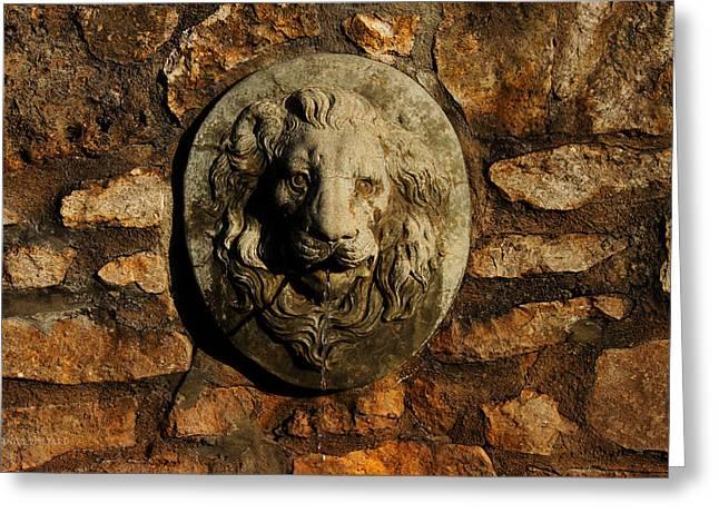 Tulsa Rose Garden Lion Fountain #1 Greeting Card