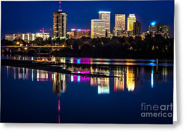 Tulsa Skyline At Twilight Greeting Card