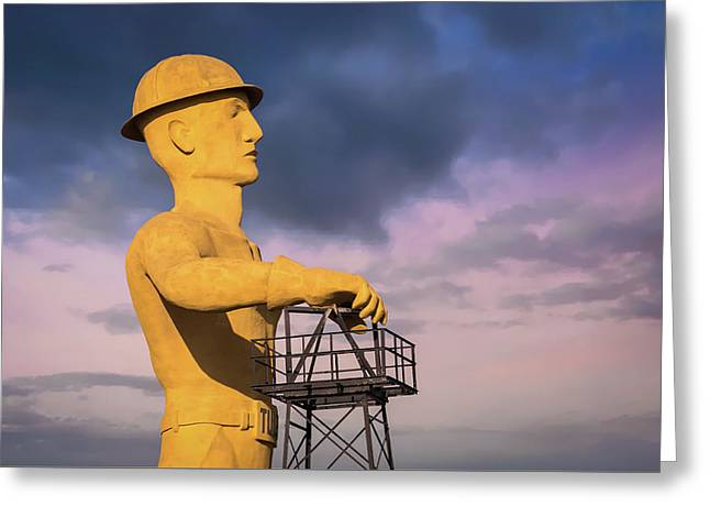 Tulsa's Golden Driller Up Close - Tulsa Oklahoma Art Greeting Card