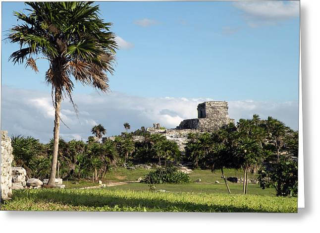 Greeting Card featuring the photograph Tulum Mexico by Dianne Levy